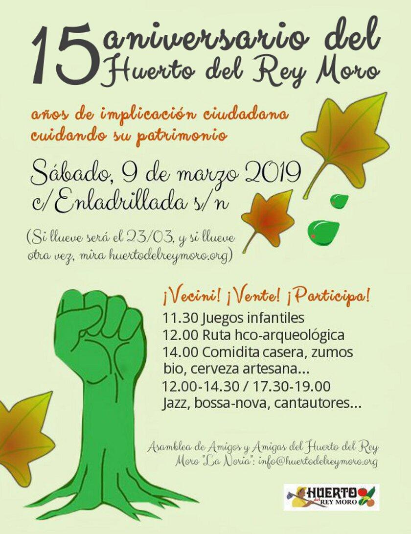 15 aniversario del Huerto del Rey Moro